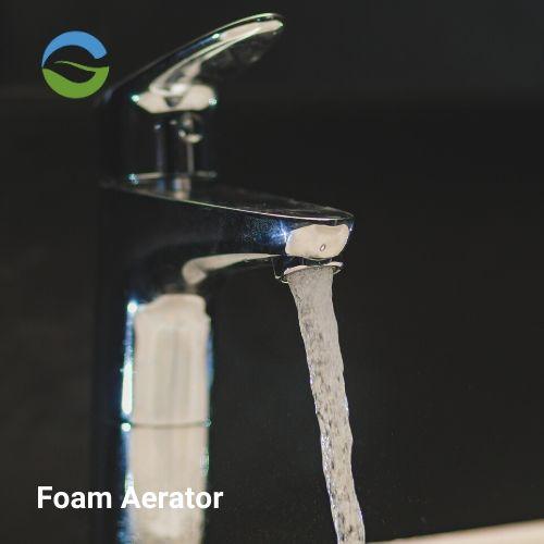 Foam flow aerator water saving